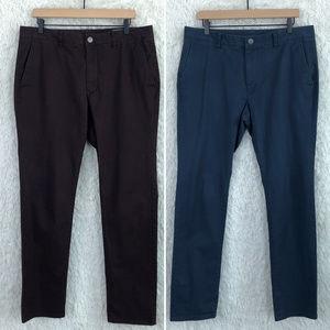 Bonobos | Tailored Slim Fit Chinos x2 Size 35